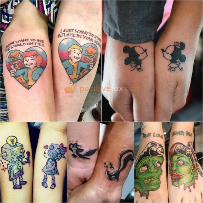Couple Tattoos. Couple Tattoo Ideas - Matching Tattoos