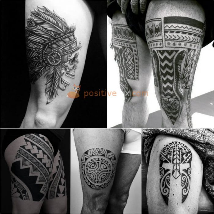 Thigh Tattoos. Thigh Tattoo Ideas. Mens Thigh Tattoo