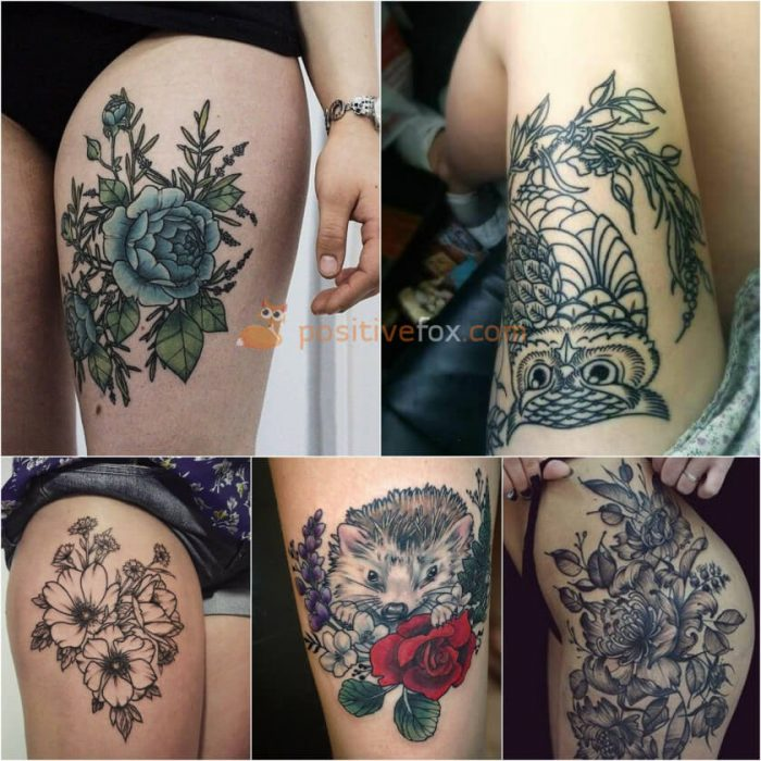 Thigh Tattoos. Thigh Tattoo Ideas. Thigh Tattoos for Women