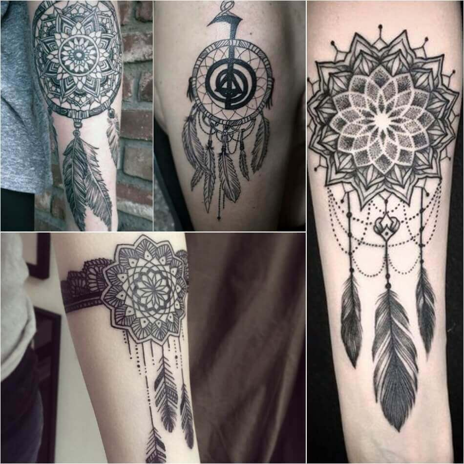 Dreamcatcher Tattoos Powerful Talisman For Good Dreams And Thoughts
