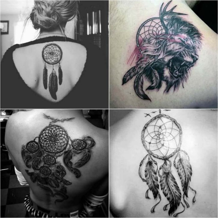 Dreamcatcher Back Tattoo - Dreamcatcher Tattoo on Back - Dreamcatcher Tattoo Ideas - Dreamcatcher Tattoo Meaning