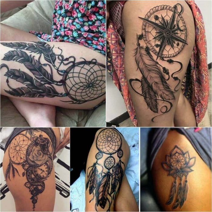 Dreamcatcher Hip Tattoo - Dreamcatcher Tattoo on Hip - Dreamcatcher Tattoo Ideas - Dreamcatcher Tattoo Meaning