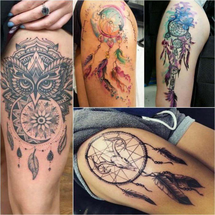 Dreamcatcher Hip Tattoo - Dreamcatcher Tattoo on Hip - Dreamcatcher Tattoo Ideas - Dreamcatcher Tattoo Meaning