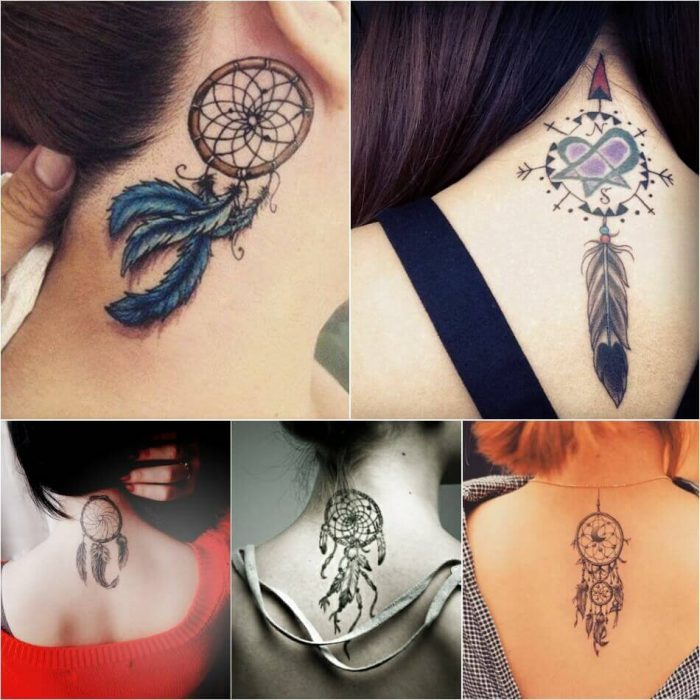 Dreamcatcher Neck Tattoo - Dreamcatcher Tattoo on Neck - Dreamcatcher Tattoo Ideas - Dreamcatcher Tattoo Meaning