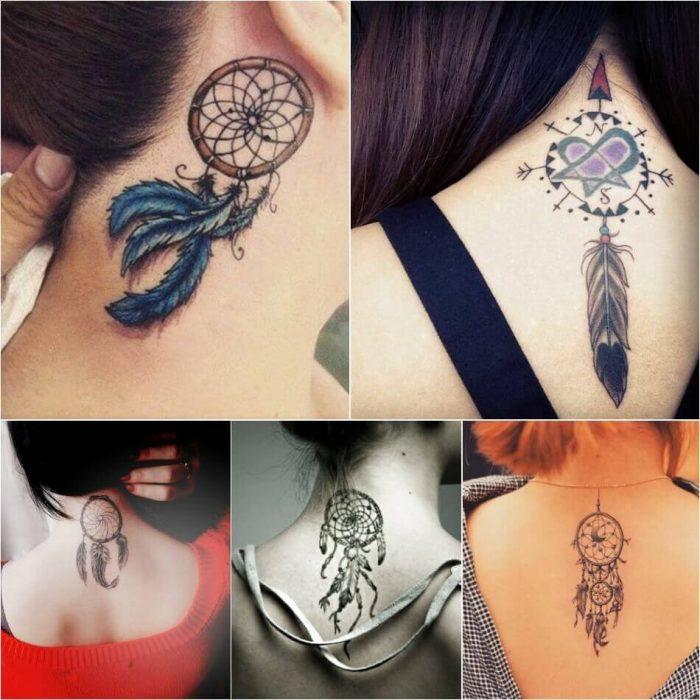 Dreamcatcher Neck Tattoo - Dreamcatcher Tattoo on Neck - Dreamcatcher Tattoo Ideas - Dreamcatcher Tattoo Meaning