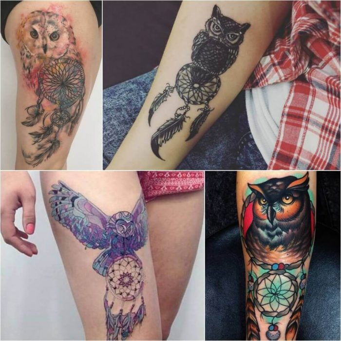 Dreamcatcher Owl Tattoo Ideas Meaning