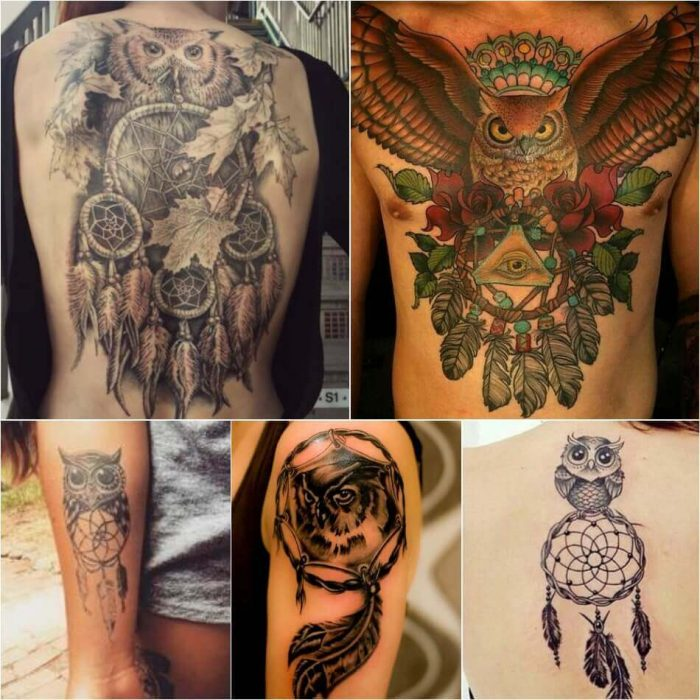 Dreamcatcher Owl Tattoo - Dreamcatcher Tattoo - Dreamcatcher Tattoo Ideas - Dreamcatcher Tattoo Meaning