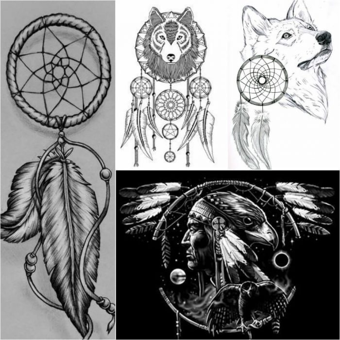 Dreamcatcher Tattoos Sketches - Dreamcathcer Tattoos - Dreamcatcher Tattoo Ideas - Dreamcatcher Tattoo Meaning