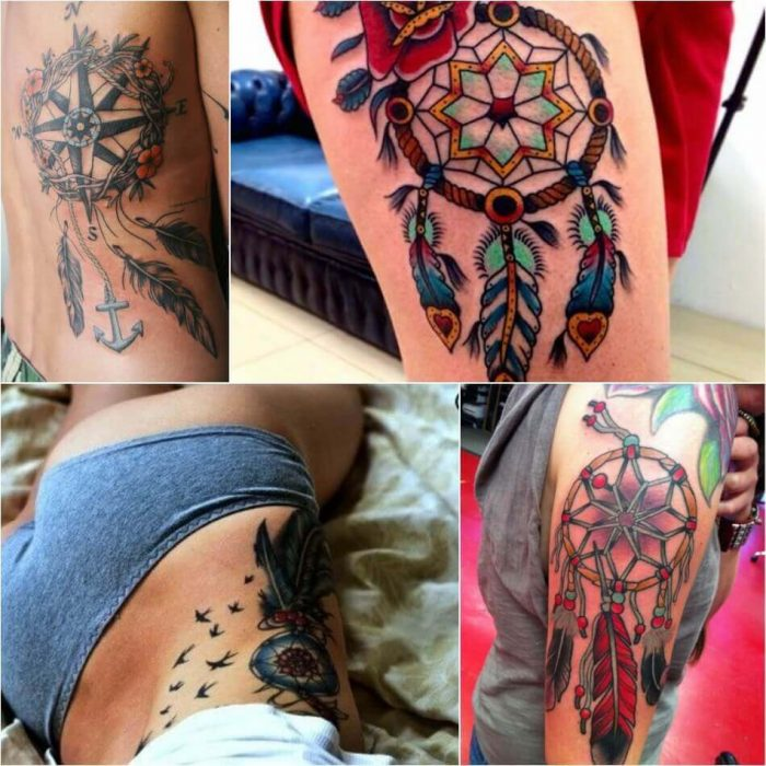 Dreamcatcher Tattoos for Women - Dreamcathcer Tattoos - Dreamcatcher Tattoo Ideas - Dreamcatcher Tattoo Meaning