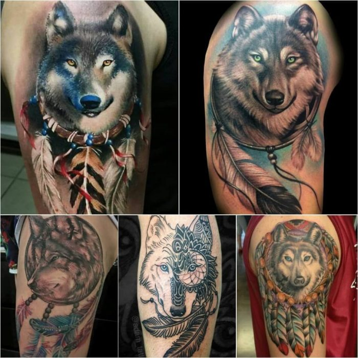 Dreamcatcher Wolf Tattoo - Dreamcatcher Wolf Tattoo Meaning - Dreamcatcher Tattoo Ideas - Dreamcatcher Tattoo Meaning