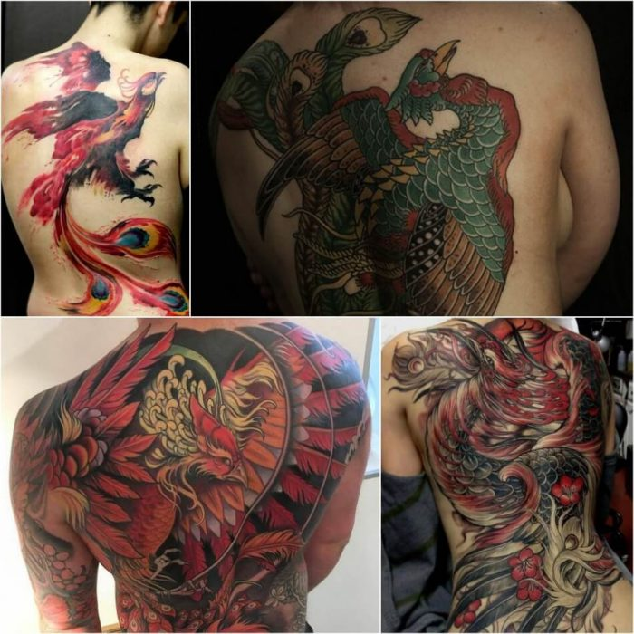 Phoenix Tattoo on Back - Phoenix Tattoos - Phoenix Tattoo Ideas - Phoenix Tattoo Meaning