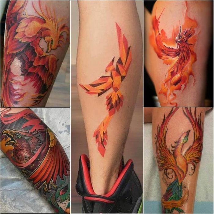 Phoenix Tattoo on Leg - Phoenix Tattoos - Phoenix Tattoo Ideas - Phoenix Tattoo Meaning