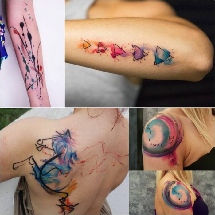 Abstract Watercolor Tattoo - Watercolor Tattoo Meaning - Watercolor Tattoo Ideas