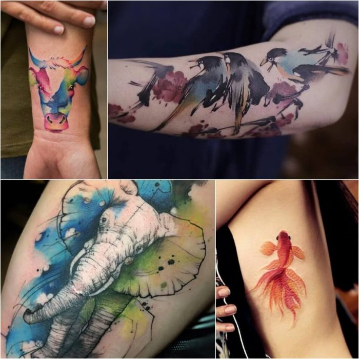Animal Watercolor Tattoo - Watercolor Tattoo Meaning - Watercolor Tattoo Ideas