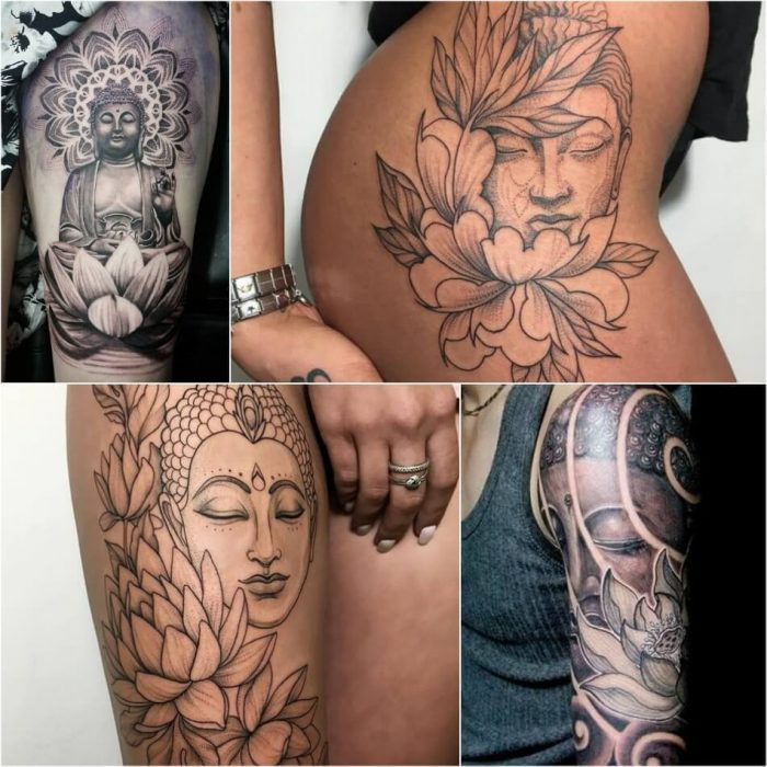 Buddha and Lotus Tattoo - Lotus Tattoo Meaning - Lotus Tattoo Ideas - Lotus Tattoo Designs