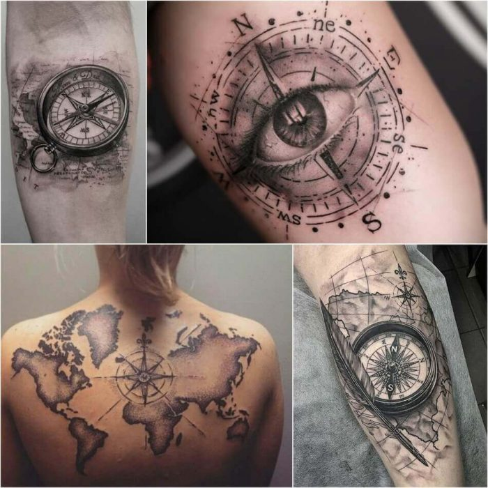 Compass Tattoo - Compass Tattoo Meaning - Compass Tattoo Ideas