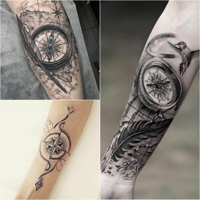 compass tattoo designs popular ideas for compass tattoos with meaning. Black Bedroom Furniture Sets. Home Design Ideas