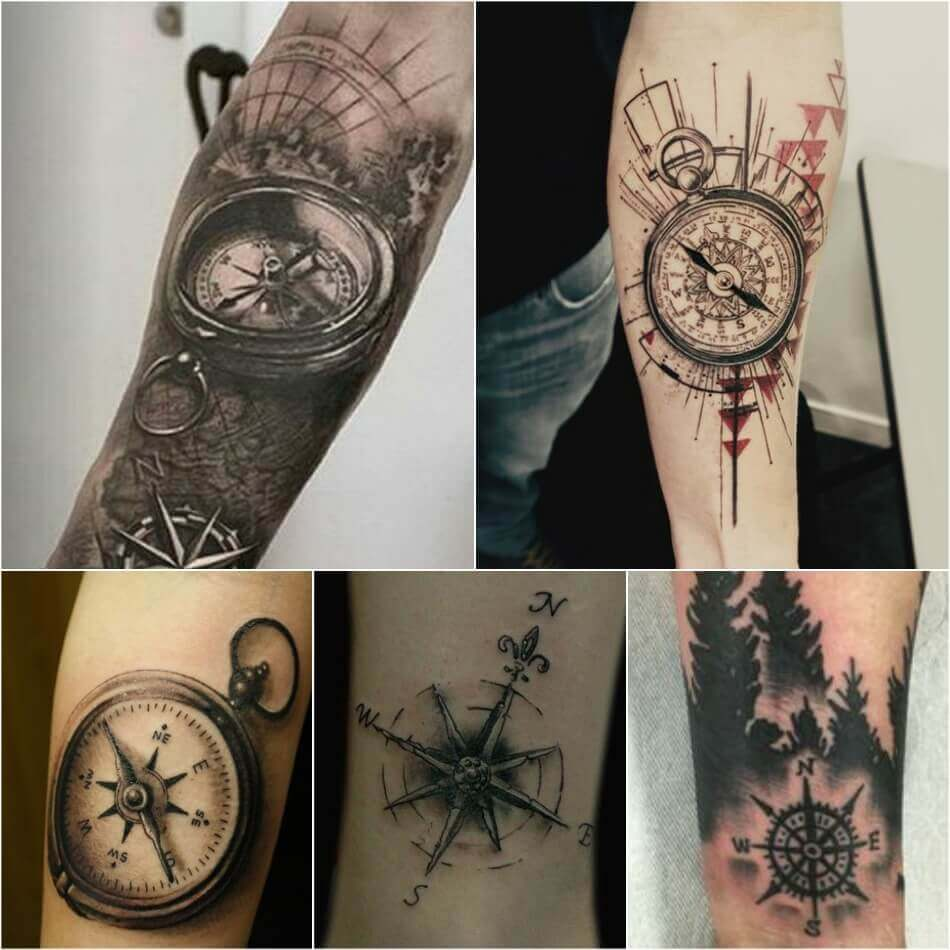 Planet Tattoo Designs Ideas And Meaning: Popular Ideas For Compass Tattoos