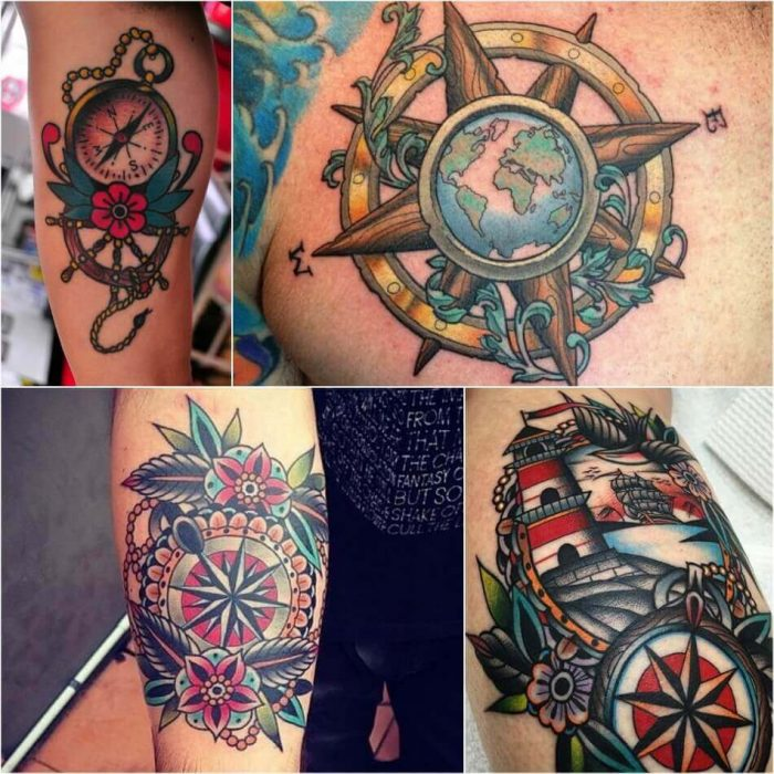 Compass Tattoo for Men - Compass Tattoo Meaning - Compass Tattoo Ideas for Men