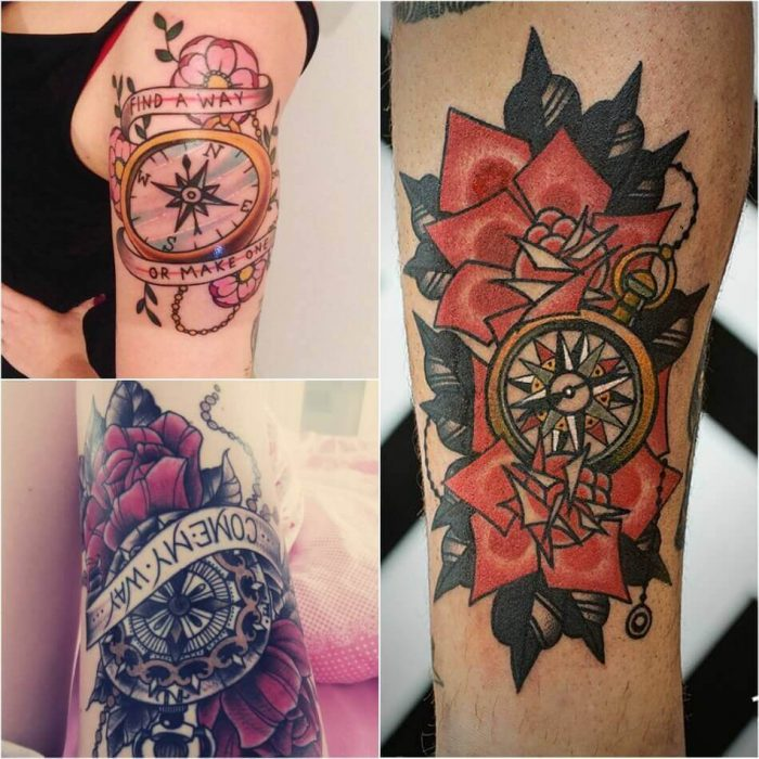 Ideas And Designs For Girls: Popular Ideas For Compass Tattoos