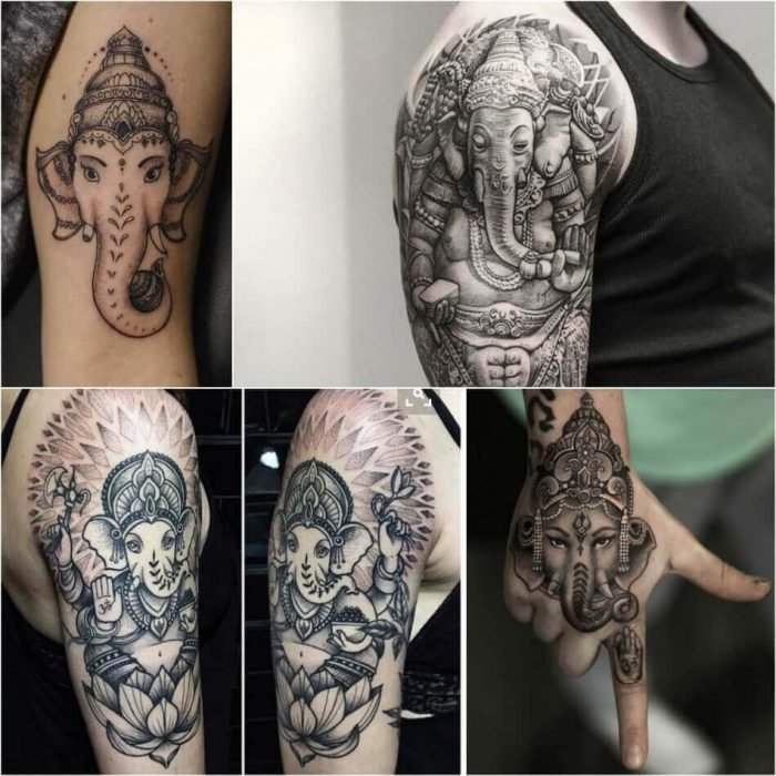 Ganesha Tattoo - Ganesha Indian Tattoo - Elephant Tattoo - Elephant Tattoo Meaning - Elephant Tattoo Ideas