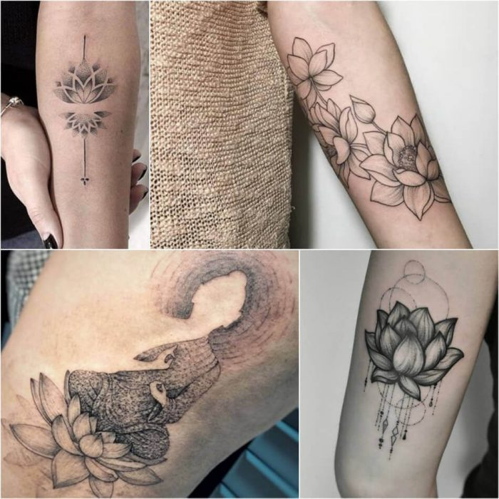 Lotus Dotwork Tattoo - Lotus Tattoo Meaning - Lotus Tattoo Ideas - Lotus Tattoo Designs