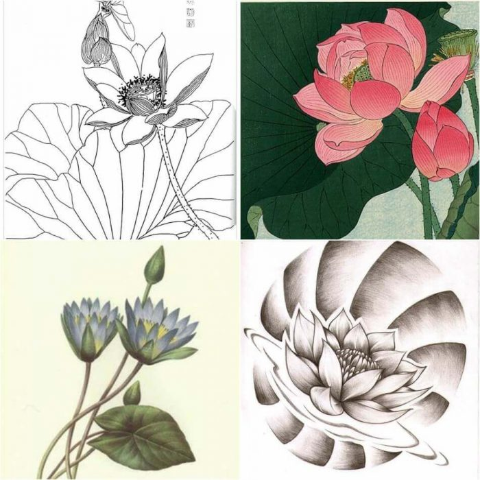 Lotus Tattoo Sketches - Lotus Tattoo Designs - Lotus Tattoo Meaning - Lotus Tattoo Ideas