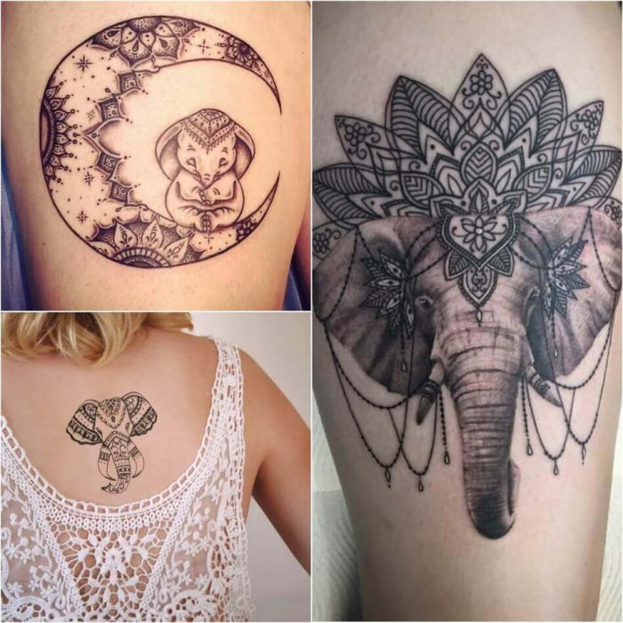 Mandala Elephant Tattoo - Elephant Tattoo Meaning - Elephant Tattoo Ideas