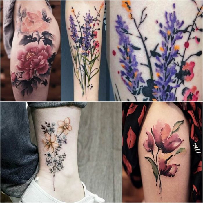 Watercolor Tattoo Flower - Watercolor Tattoo Meaning - Watercolor Tattoo Ideas