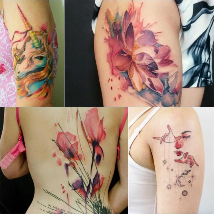 Watercolor Tattoo for Girl - Watercolor Tattoo for Women - Watercolor Tattoo Meaning - Watercolor Tattoo Ideas