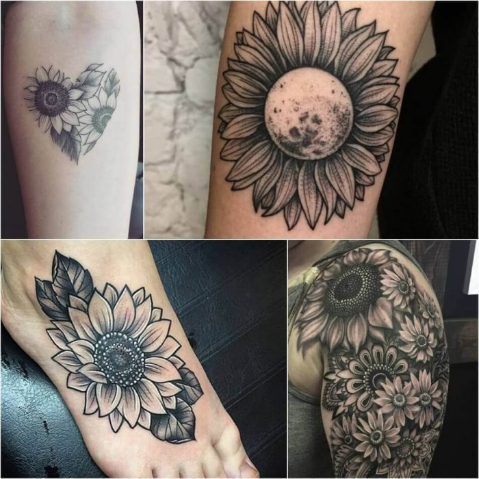 Sunflower Tattoo Meaning Popular Sunflower Tattoo Ideas For Women