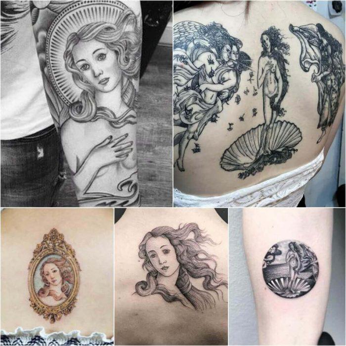 Boticelli Tattoo - Boticelli Painting Tattoo - Tattoo of Painting - Painting Tattoo Ideas - Painting Tattoo Designs