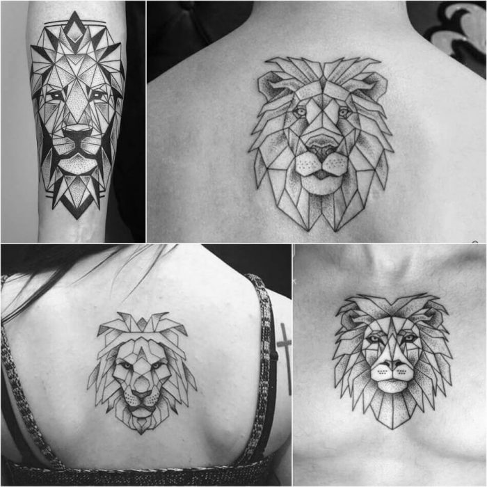 74dc177a8733b ... Geometric Lion Tattoo - Lion Tattoo Meaning - Lion Tattoo Ideas - Lion Tattoo  Designs