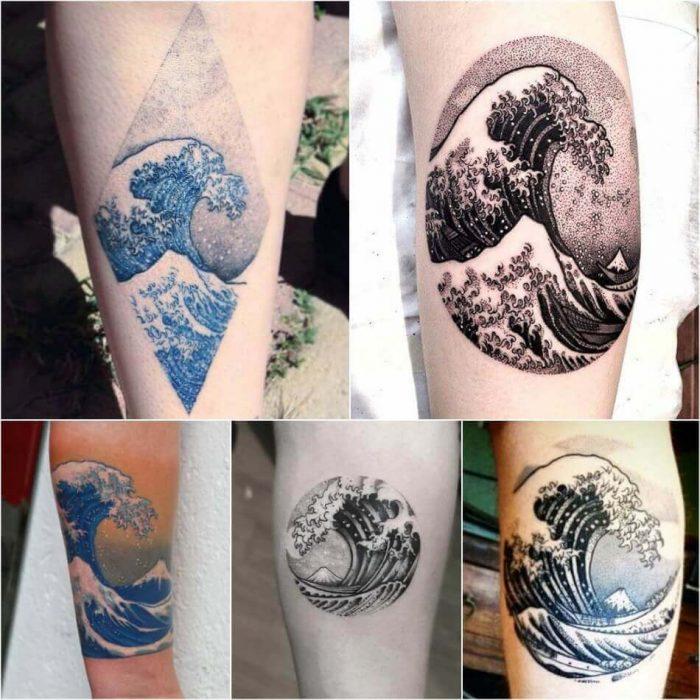 Hokusai Tattoo - Japanese Wave Tattoo - Tattoo of Painting - Painting Tattoo Ideas - Painting Tattoo Designs
