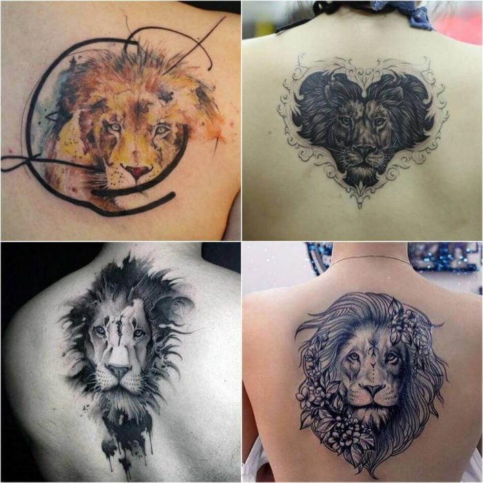 Lion Tattoo on Back - Back Lion Tattoo - Lion Tattoo Meaning - Lion Tattoo Ideas - Lion Tattoo Designs