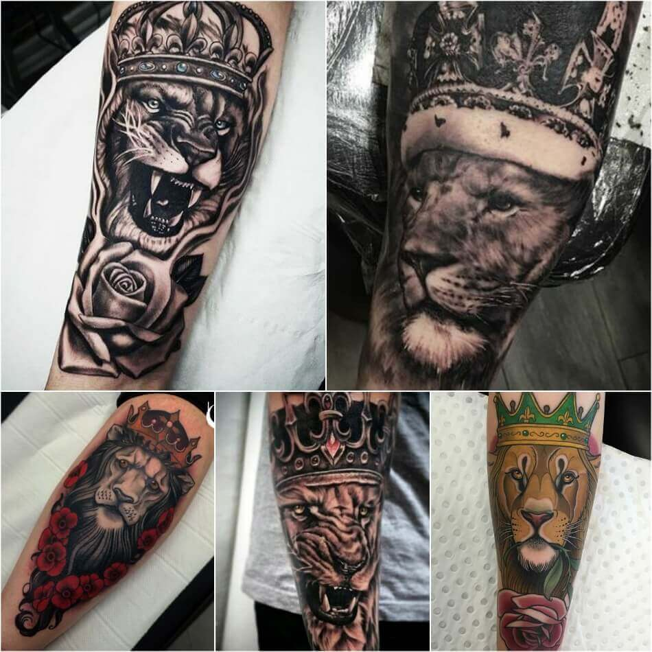 Lion With Crown Wallpaper Lion With Crown Tattoo Design: Lion Tattoo Ideas For Men And Women