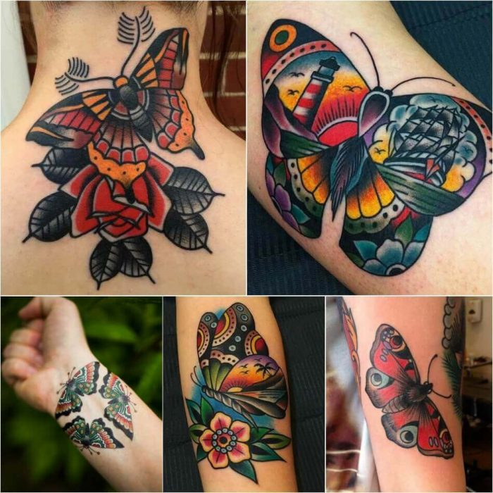 Old School Butterfly Tattoo - Butterfly Tattoo Ideas - Butterfly Tattoo Meaning