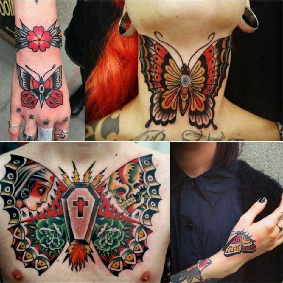 Old School Butterfly Tattoo - Butterfly Tattoo Ideas - Butterfly Tattoo Meaning