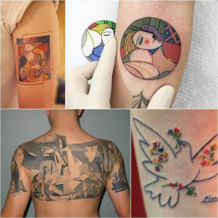 Picasso Tattoo - Picasso Painting Tattoo - Tattoo of Painting - Painting Tattoo Ideas - Painting Tattoo Designs
