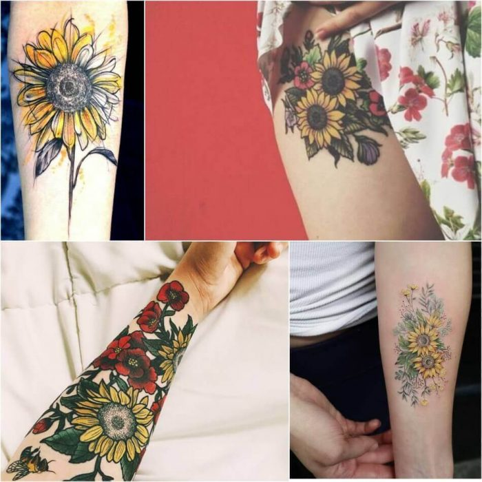 Sunflower Tattoo - Sunflower Tattoo Ideas - Sunflower Tattoo Meaning - Sunflower Tattoo Designs