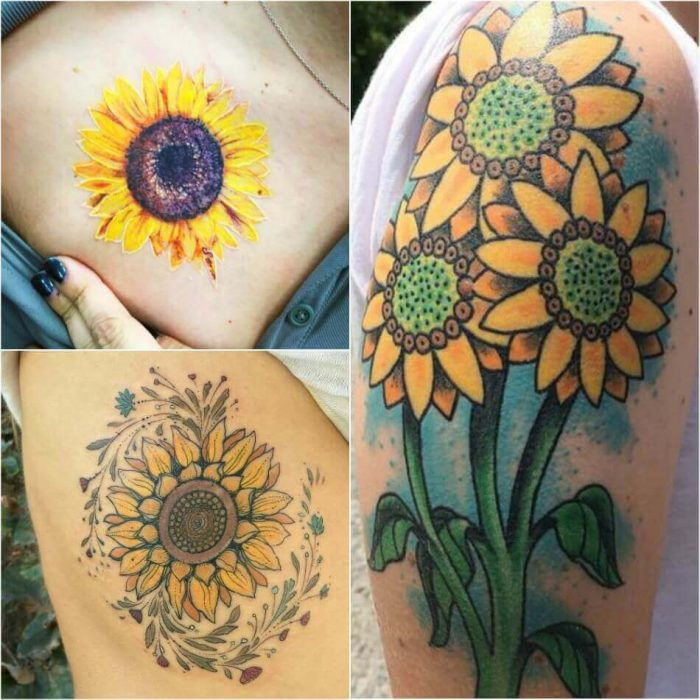 Sunflower Tattoo for Women - Sunflower Tattoo for Girls - Sunflower Tattoo Ideas - Sunflower Tattoo Meaning - Sunflower Tattoo Designs