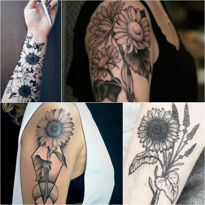 Sunflower Tattoo on Arm - Sunflower Tattoo Ideas - Sunflower Tattoo Meaning - Sunflower Tattoo Designs