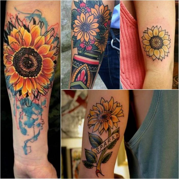Sunflower Tattoo Design Meanings Flowers Healthy