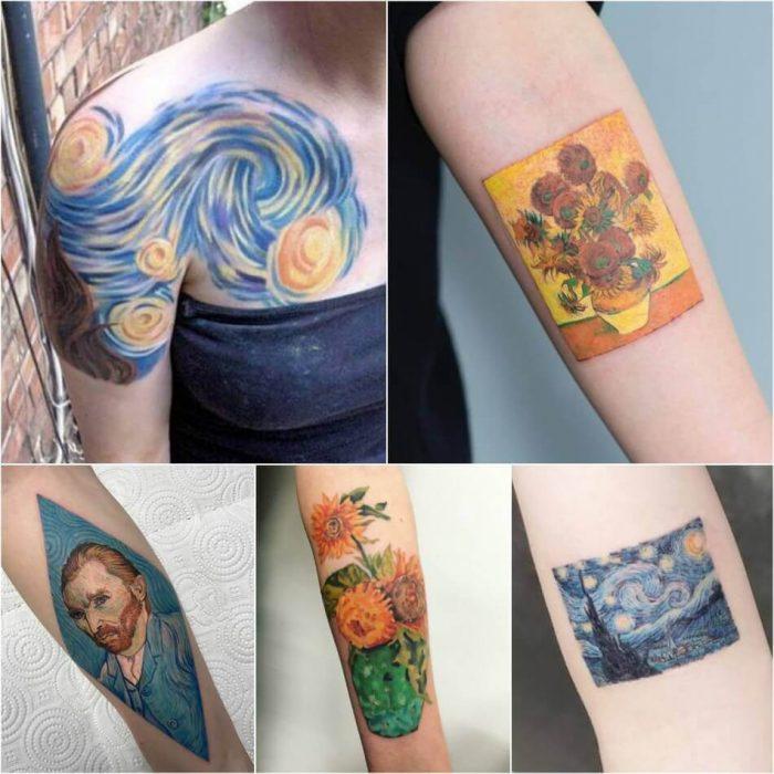 Van Gogh Tattoo - Painting Tattoo - Tattoo of Painting - Painting Tattoo Ideas - Painting Tattoo Designs