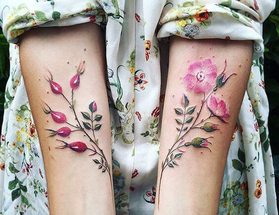 Watercolor tattoo style - most popular watercolor tattoos - Different Tattoo Styles and Techniques