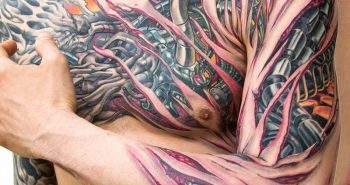 3d biomechanical tattoos - biomechanical tattoo - biomechanical tattoo chest