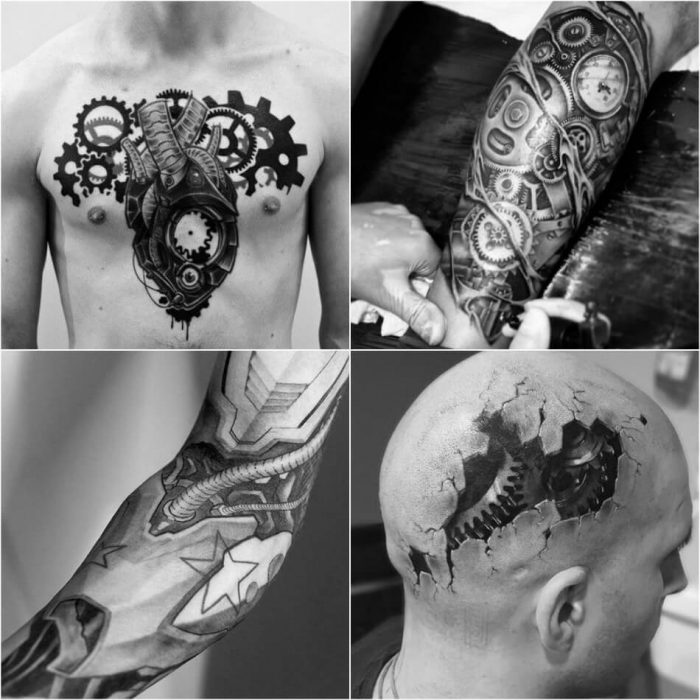 biomechanical tattoo - 3d biomechanical tattoos - biomechanical tattoo ideas