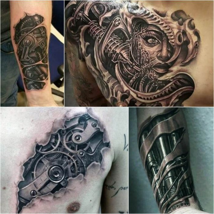 biomechanical tattoo - 3d biomechanical tattoos - realistic biomechanical tattoos