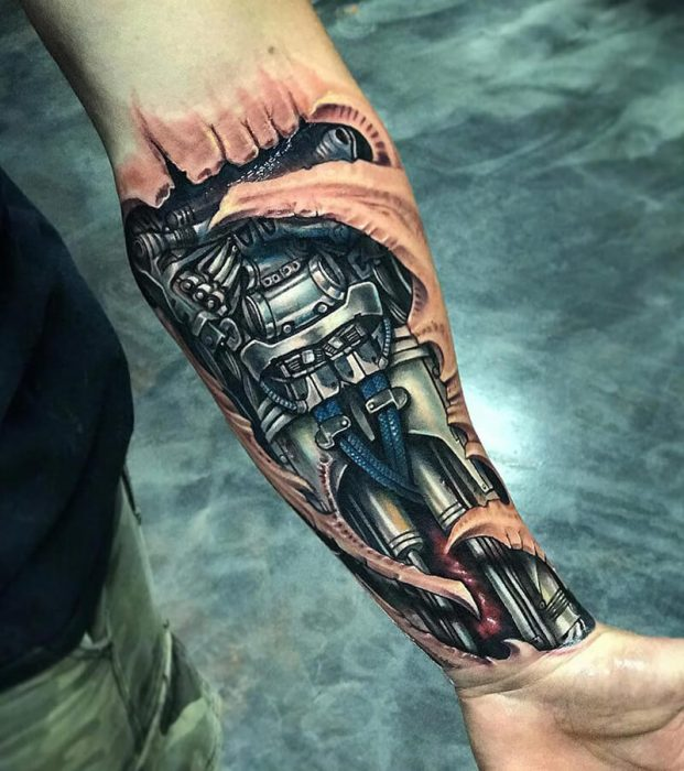biomechanical tattoo arm -biomechanical tattoo - 3d biomechanical tattoos
