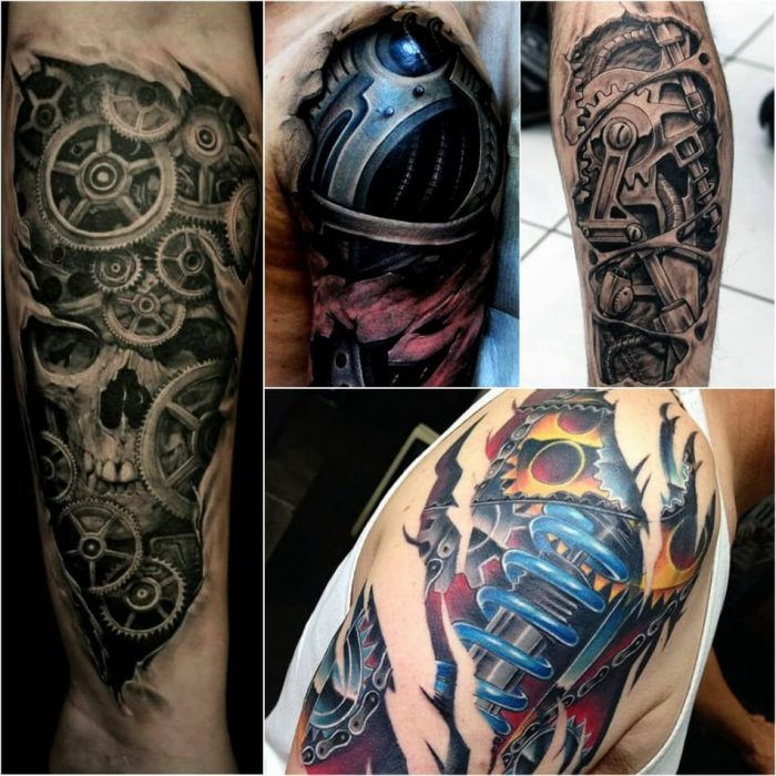 biomechanical tattoo - biomechanical tattoo arm - realistic biomechanical tattoos